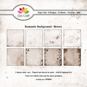DIXI CRAFT PAPIRSBLOK - Romantic - Brown - PP0094