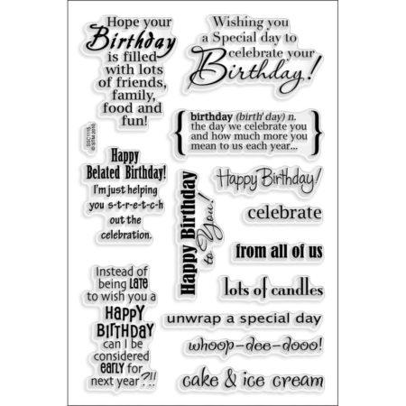 Stampendous - Cling Stamp - Birthday Wish - SSC1115