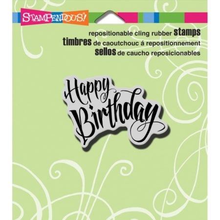 Stampendous - Cling Stamp - Penned Birthday - CRH311