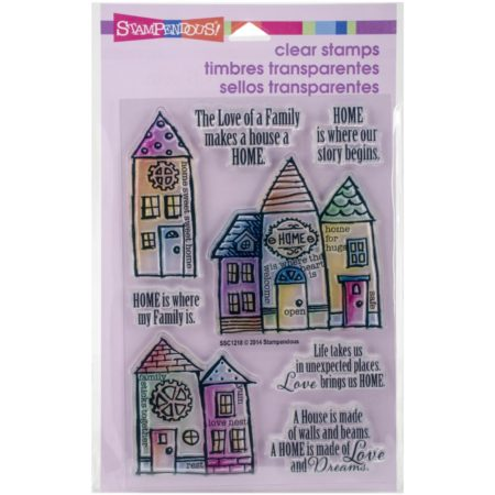 Stampendous - Cling Stamp - Family Home - SSC1218