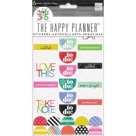 Happy Planner - Create 365 Stickers - To Do, Brights - PPS-51