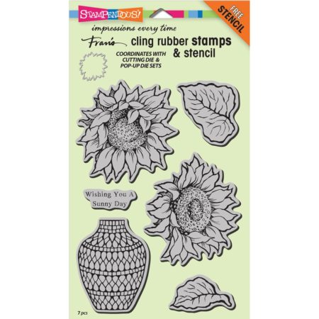 Stampendous - Cling Stamp - Sunny Vase - CRS5094