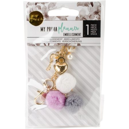 My Prima Planner - Pom Pom Key Chain - Key To My Heart