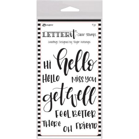 Rangers Letterit - Clear Stamps - Greetings - LEC59318