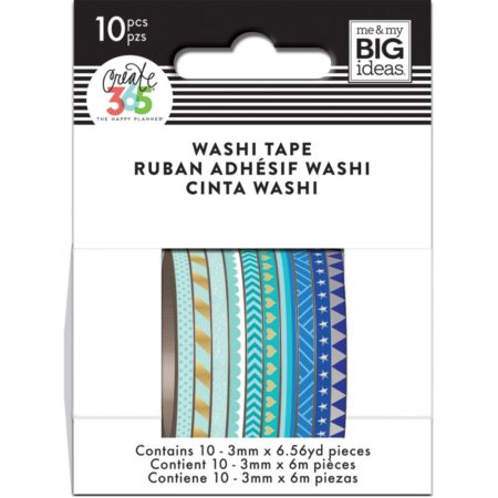 Happy Planner / Create 365 - Mini Washi Tapes - Blue Hues