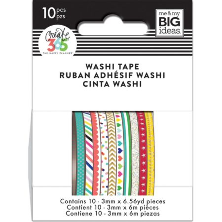 Happy Planner / Create 365 - Mini Washi Tapes - Brights - WTSS-03