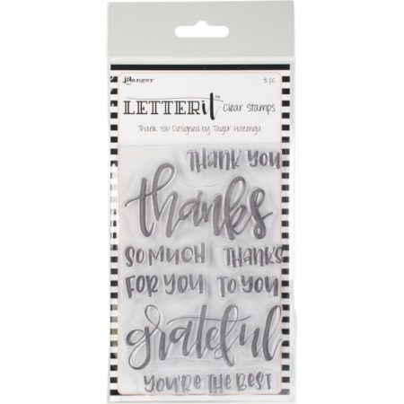 Rangers Letterit - Clear Stamps - Thank You - LEC59325