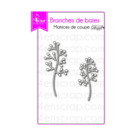 4enscrap Dies - Berries branches - 4EN-332