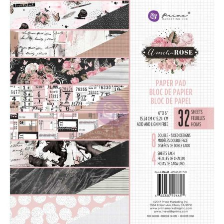 "Prima Marketing - Paper Pad 6""x6"" - Amelia Rose - 596651"
