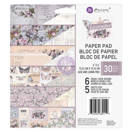 "Prima Marketing - Lavender - 6 x 6"" - 630119"