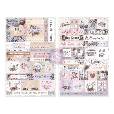 Prima Marketing - Lavender Stickers - Words & Quotes W/Rose Gold Foil