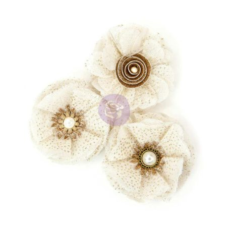 Prima Flowers - Love Story Fabric Flowers - Tulle Antoinette