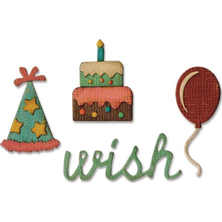 Sizzix - SIDE-Order - Tim Holtz - Birthday - 662703