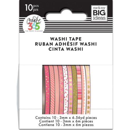 Happy Planner / Create 365 - Mini Washi Tapes - Pink Hues - WTSS-07