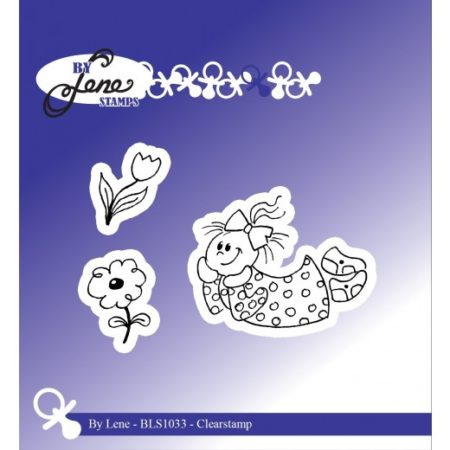 By Lene Stamps - Girl/Flowers - pige - BLS1033