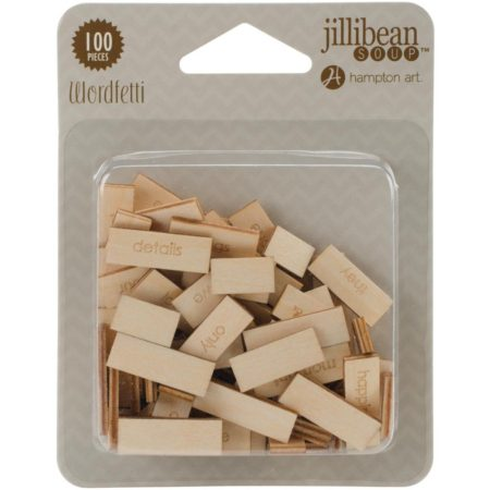 Jillibean Soup-Printed Wood Wordfetti - Life