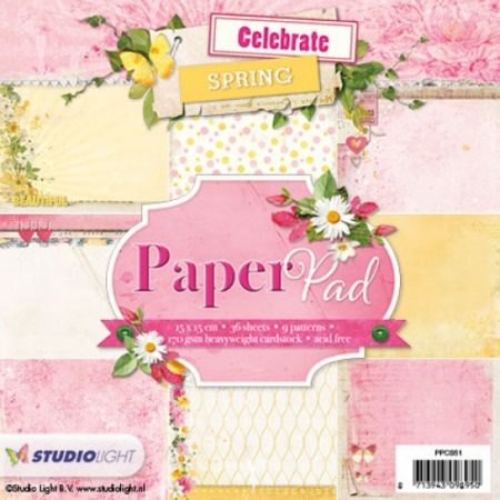 Studio Light Papirblok - Romantic Botanic - PPCS51