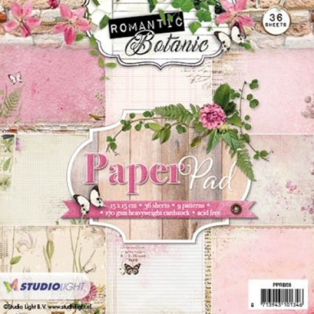 Studio Light Papirblok - Romantic Botanic - PPRB58