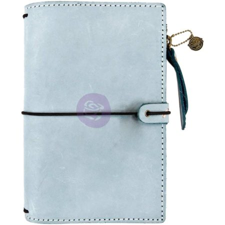 Prima Traveler's Journal Leather Essential - Ice Blue - 630317