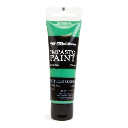 Prima - Finnabair Art Alchemy - Impasto Paint - Bottle Green