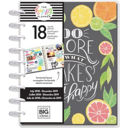 Happy Planner - 18-Month Dated Medium Planner - Enjoy All