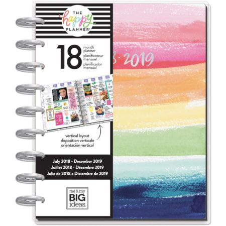 Happy Planner - 18-Month Dated Medium Planner - Life Is Beautiful