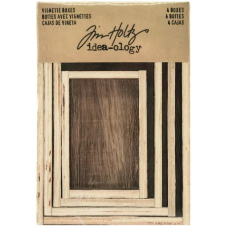 Idea-Ology - Tim Holtz - Wooden Vignette Boxes - TH93279