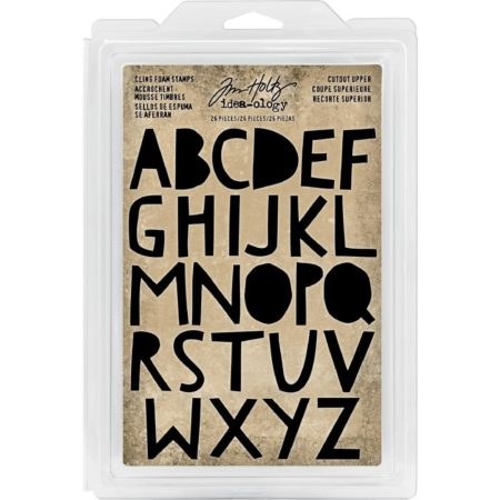 Idea-Ology Cling Foam Stamps - Cutout Uppercase - TH93699