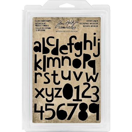 Idea-Ology Cling Foam Stamps - Cutout Lowercase Alpha & Numbers