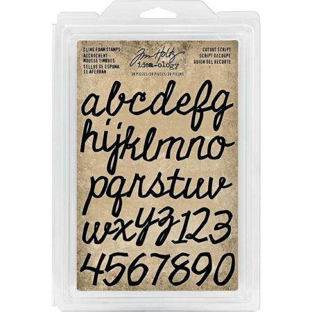 Idea-Ology Cling Foam Stamps - Cutout Script Alpha & Numbers