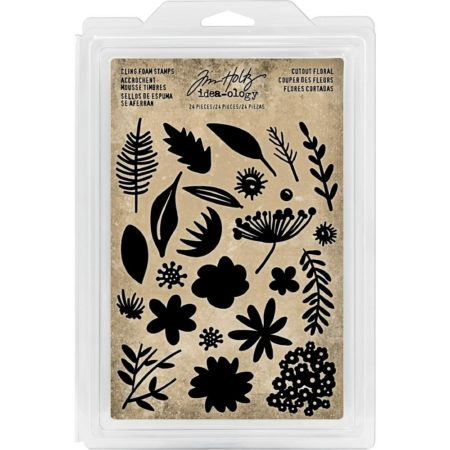 Idea-Ology Cling Foam Stamps - Cutout Floral