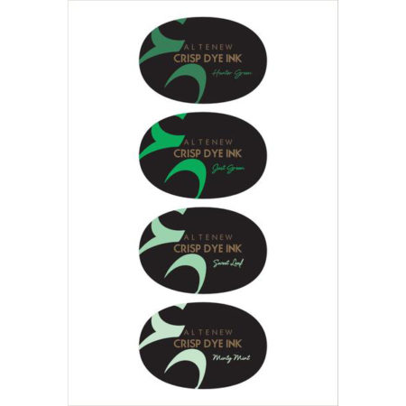 Altenew - Crisp Dye Ink Collection - Green Meadows Oval Set