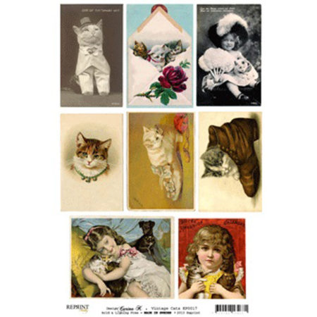 REPRINT Klippeark - Cutouts Cats - KP0017