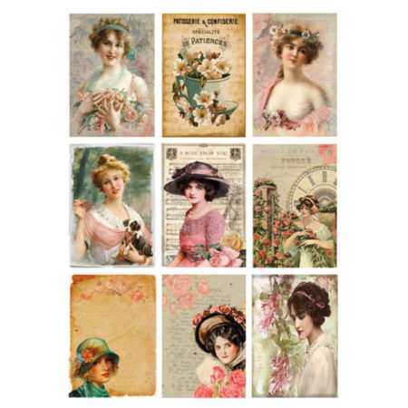 REPRINT Klippeark - Cutouts Women & Flower - KP0045