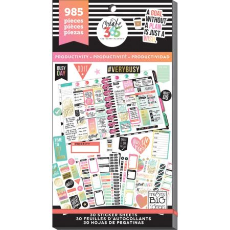 Happy Planner Create 365 Sticker - Productivity - Classic