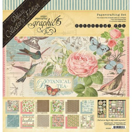 Graphic 45 - Double-Sided Paper Pad - Botanical Tea