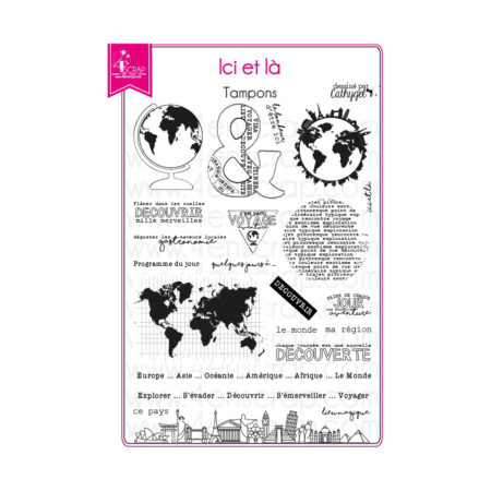 4enscrap stamp - travel discovery - Here and there - 4EN-133