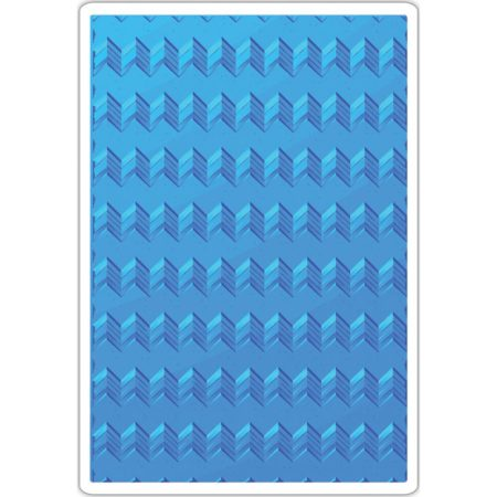 Sizzix Embossing folders - Geometric Chevrons - 661949