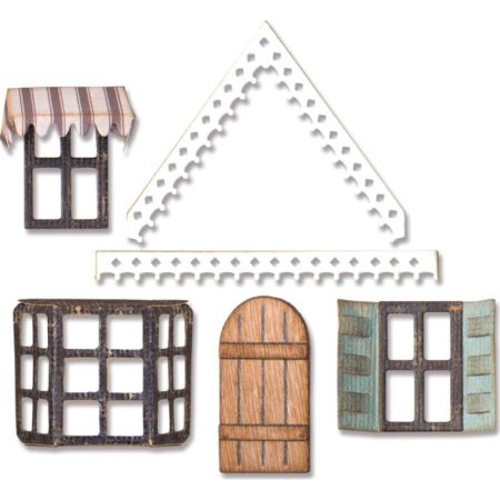 Sizzix Thinlits - Tim Holtz - Village Fixer Upper - 662699