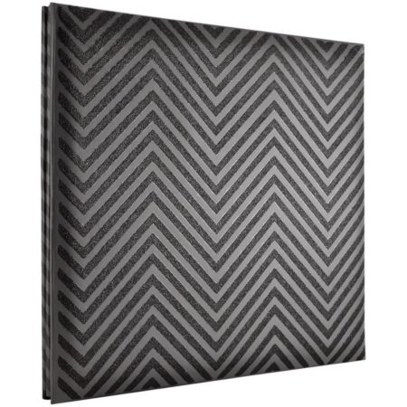 MBI-Fashion Fabric - Scrapbook & Foto Album - Chevron Black Glitter