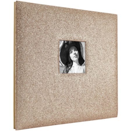 MBI-Fashion Fabric - Scrapbook & Foto Album - Glitter Golden