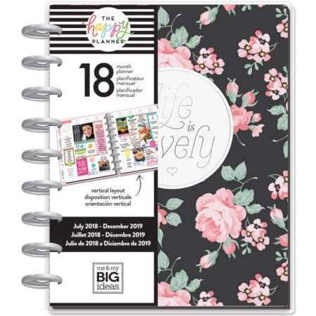 Happy Planner - 18-Month Dated Medium Planner - Simply Lovely