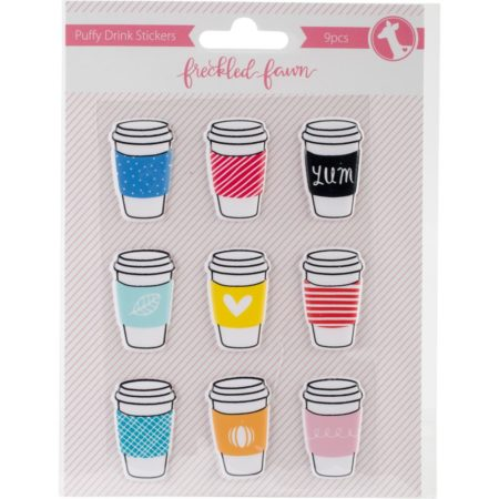 Freckled Fawn Puffy Stickers - Drink Cups - Puffy Drink