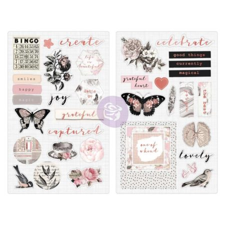 Prima Marketing - Amelia Rose - Chipboard Stickers - 596675
