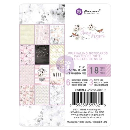 Prima Marketing - Journaling Cards - Cherry Blossom - 597825