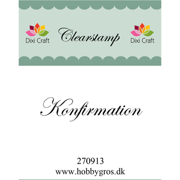 Dixi Craft clearstamp - Konfirmation - 270913