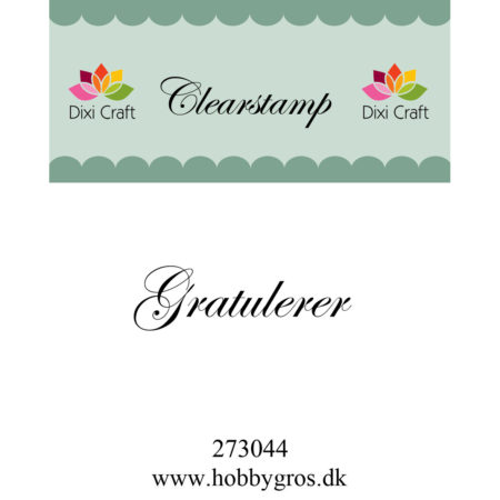 Dixi Craft Clerastamp - Gratulerer - 273044