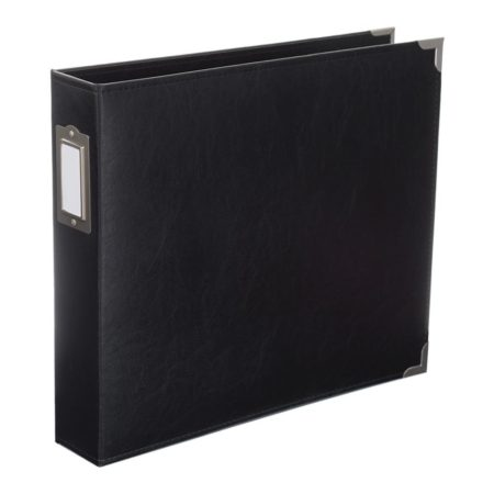 """Project Life - Midnight - 30x30"""" Classic Faux Leather Album"""