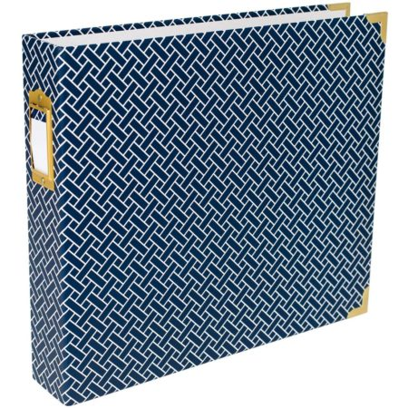 """Project Life - Navy Weave - 30x30"""" D-Ring Album"""