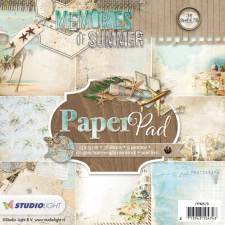 Studio Light Papirblok - Memories of summer - PPMS78